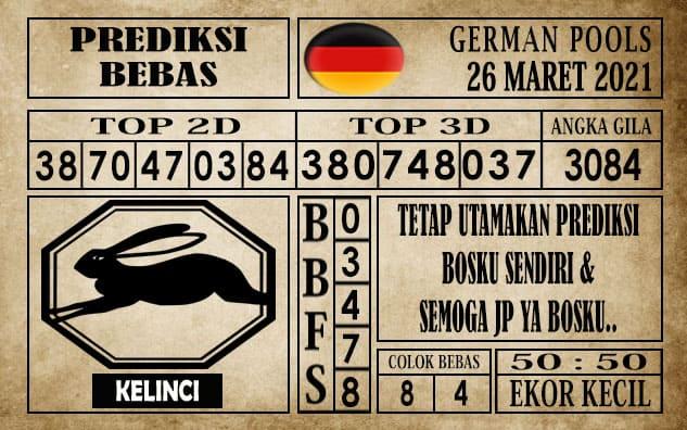 Prediksi Germany Hari Ini 26 Maret 2021