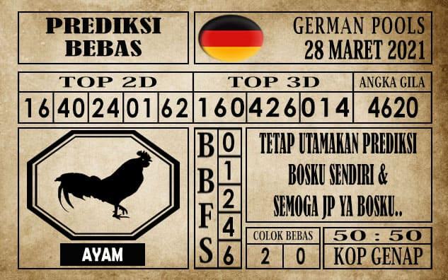 Prediksi Germany Hari Ini 28 Maret 2021