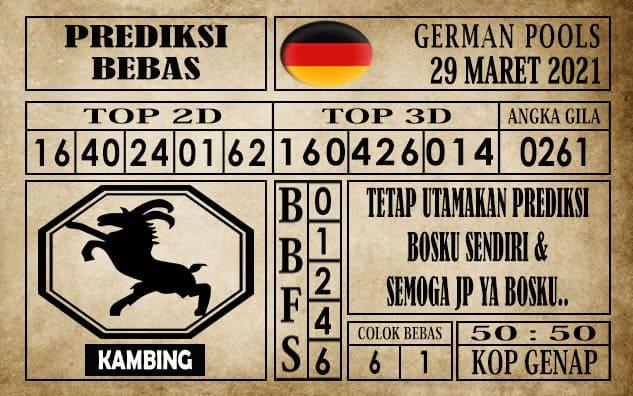 Prediksi Germany Hari Ini 29 Maret 2021