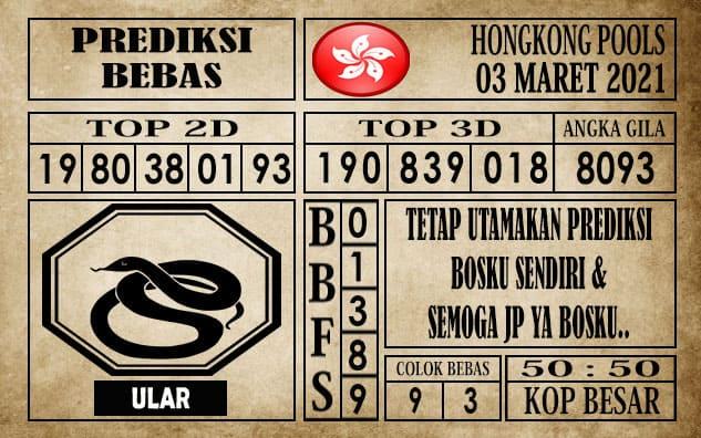 Prediksi Hongkong Pools Hari Ini 03 Maret 2021