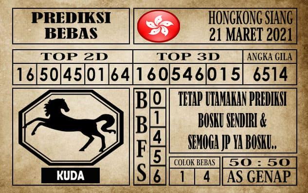 Prediksi Hongkong Siang Hari ini 21 Maret 2021