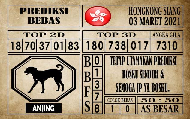 Prediksi Hongkong Siang Hari ini 03 Maret 2021