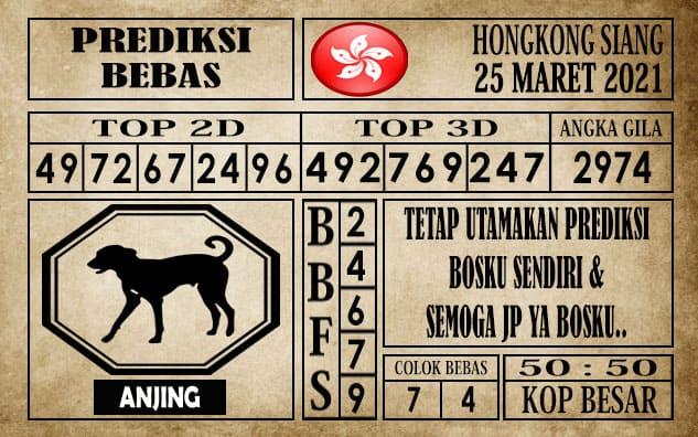 Prediksi Hongkong Siang Hari ini 25 Maret 2021