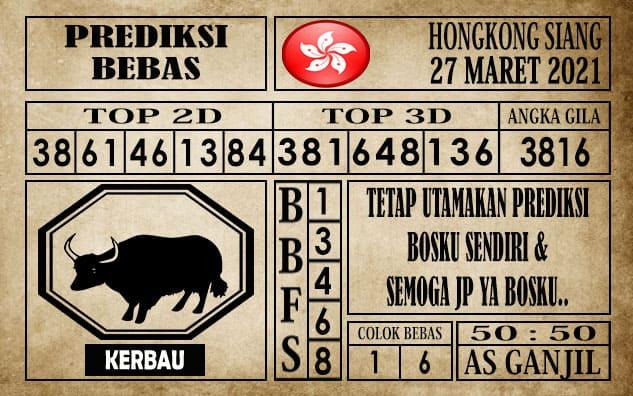 Prediksi Hongkong Siang Hari ini 27 Maret 2021