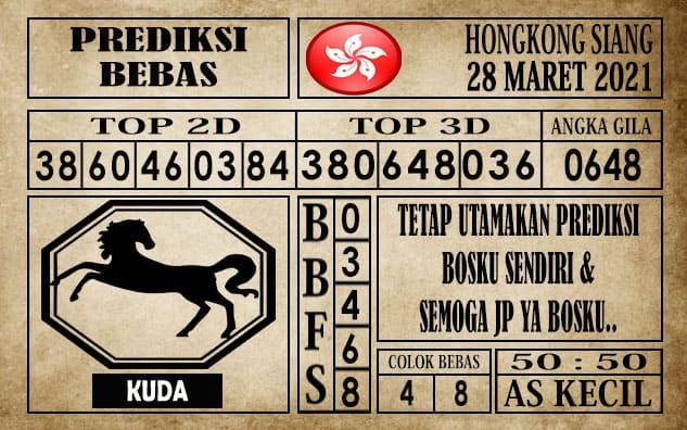 Prediksi Hongkong Siang Hari ini 28 Maret 2021