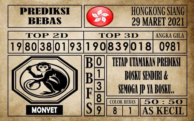 Prediksi Hongkong Siang Hari ini 29 Maret 2021