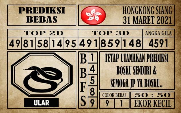 Prediksi Hongkong Siang Hari ini 31 Maret 2021