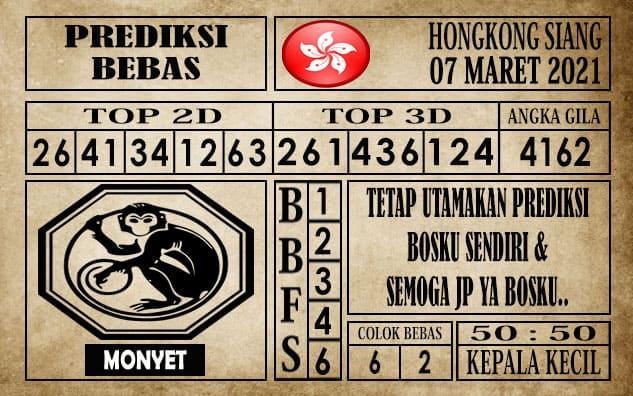 Prediksi Hongkong Siang Hari ini 07 Maret 2021