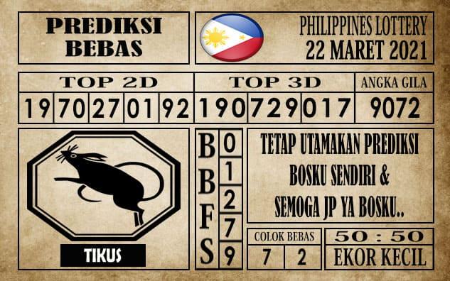 Prediksi Filipina PCSO Hari Ini 22 Maret 2021