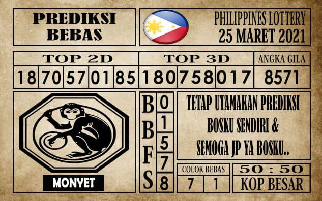 Prediksi Filipina PCSO Hari Ini 25 Maret 2021