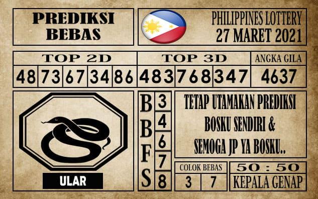 Prediksi Filipina PCSO Hari Ini 27 Maret 2021