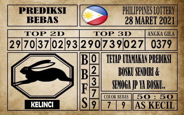 Prediksi Filipina PCSO Hari Ini 28 Maret 2021