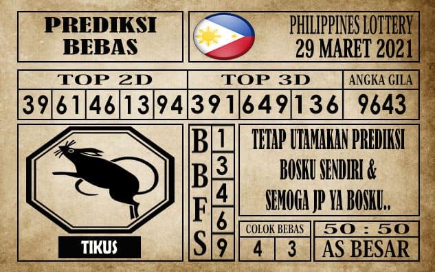 Prediksi Filipina PCSO Hari Ini 29 Maret 2021