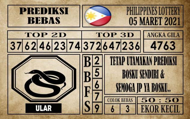 Prediksi Filipina PCSO Hari Ini 05 Maret 2021