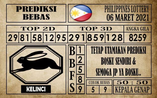 Prediksi Filipina PCSO Hari Ini 06 Maret 2021