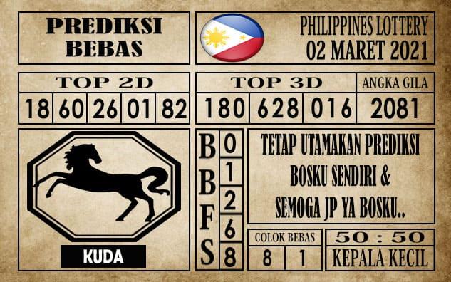 Prediksi Filipina PCSO Hari Ini 02 Maret 2021