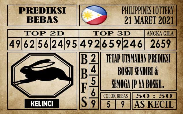 Prediksi Filipina PCSO Hari Ini 21 Maret 2021