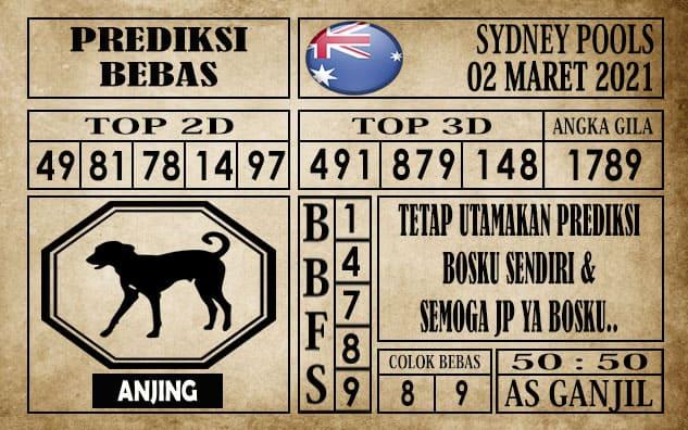 Prediksi Sydney Pools Hari ini 02 Maret 2021