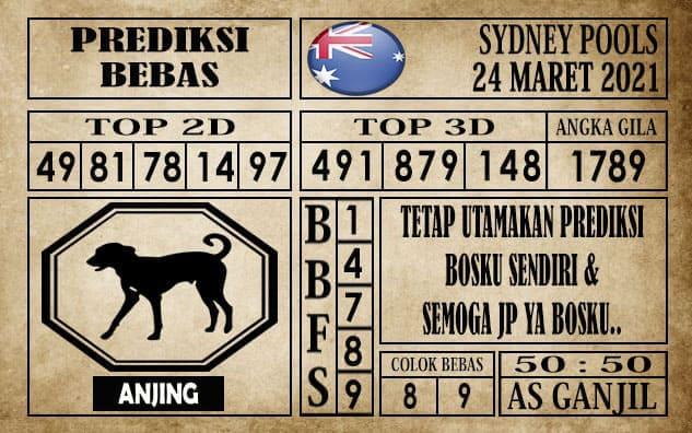 Prediksi Sydney Pools Hari ini 24 Maret 2021