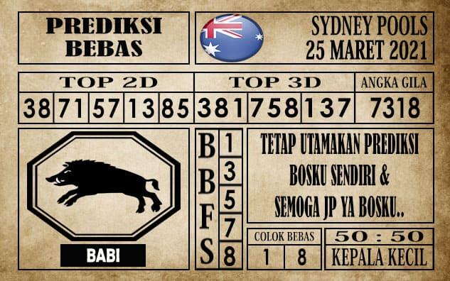 Prediksi Sydney Pools Hari ini 25 Maret 2021