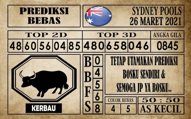 Prediksi Sydney Pools Hari ini 26 Maret 2021