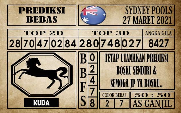 Prediksi Sydney Pools Hari ini 27 Maret 2021