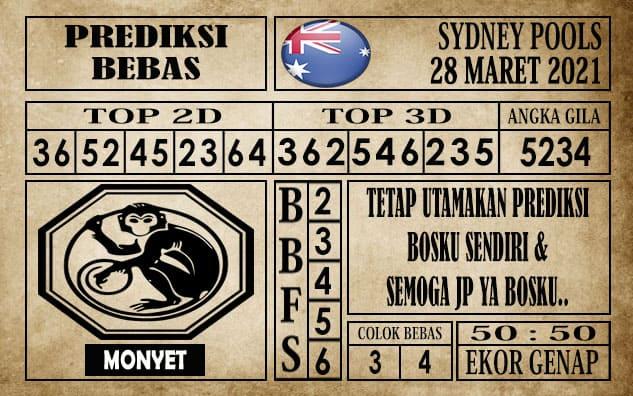 Prediksi Sydney Pools Hari ini 28 Maret 2021