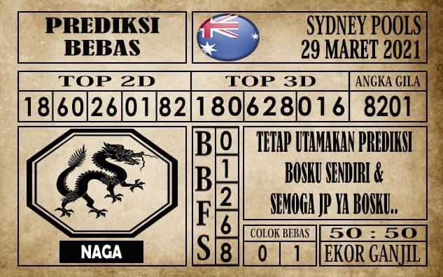 Prediksi Sydney Pools Hari ini 29 Maret 2021
