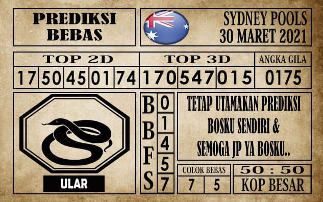 Prediksi Sydney Pools Hari ini 30 Maret 2021