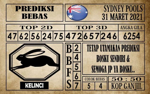 Prediksi Sydney Pools Hari ini 31 Maret 2021