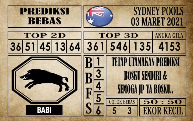 Prediksi Sydney Pools Hari ini 03 Maret 2021