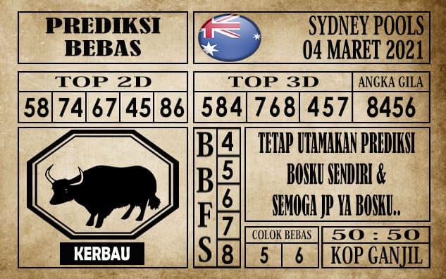 Prediksi Sydney Pools Hari ini 04 Maret 2021