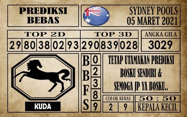Prediksi Sydney Pools Hari ini 05 Maret 2021