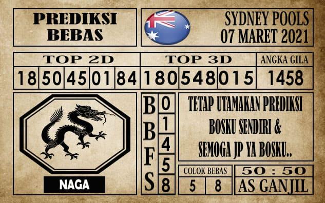 Prediksi Sydney Pools Hari ini 07 Maret 2021