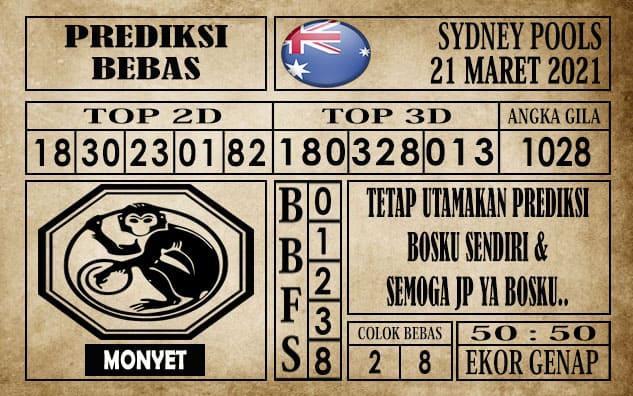 Prediksi Sydney Pools Hari ini 21 Maret 2021