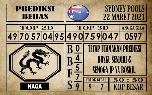 Prediksi Sydney Pools Hari ini 22 Maret 2021