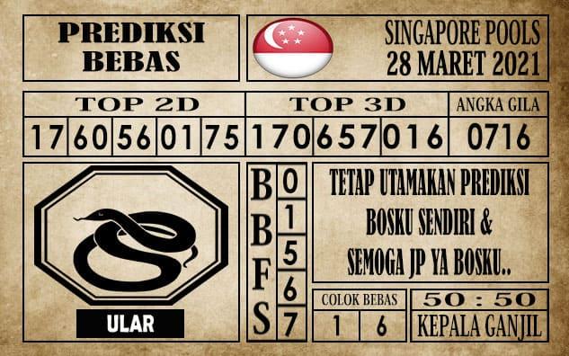 Prediksi Singapore Pools Hari ini 28 Maret 2021