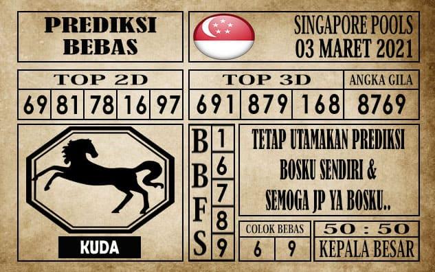 Prediksi Singapore Pools Hari ini 03 Maret 2021