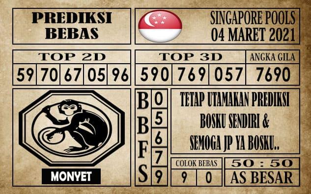 Prediksi Singapore Pools Hari ini 04 Maret 2021