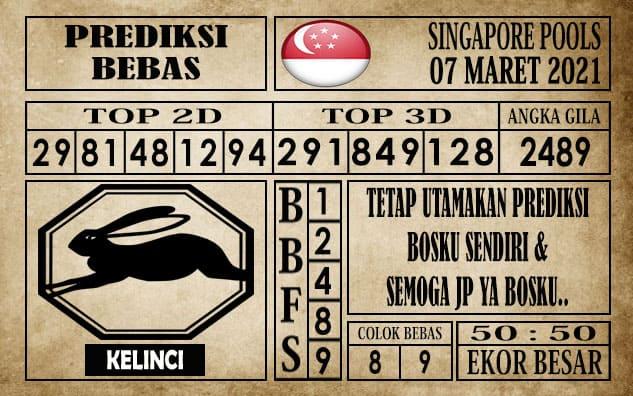 Prediksi Singapore Pools Hari ini 06 Maret 2021
