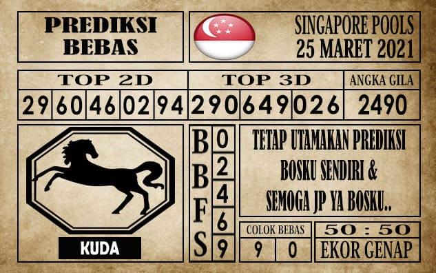 Prediksi Singapore Pools Hari ini 25 Maret 2021