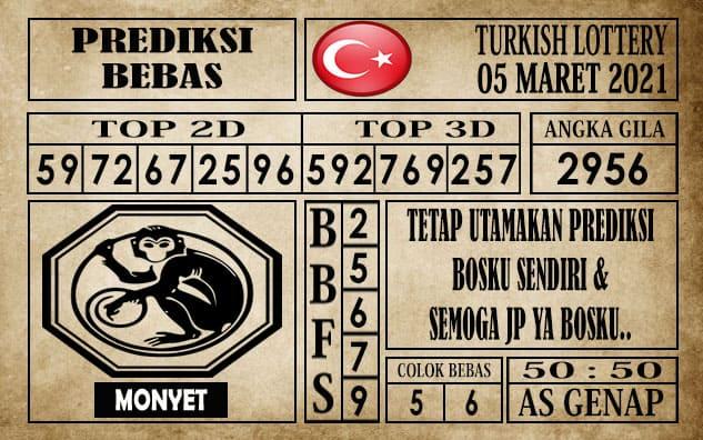 Prediksi Turkish Lottery Hari ini 05 Maret 2021