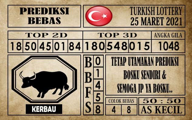 Prediksi Turkish Lottery Hari ini 25 Maret 2021