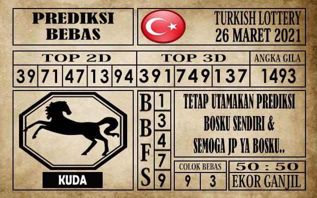 Prediksi Turkish Lottery Hari ini 26 Maret 2021