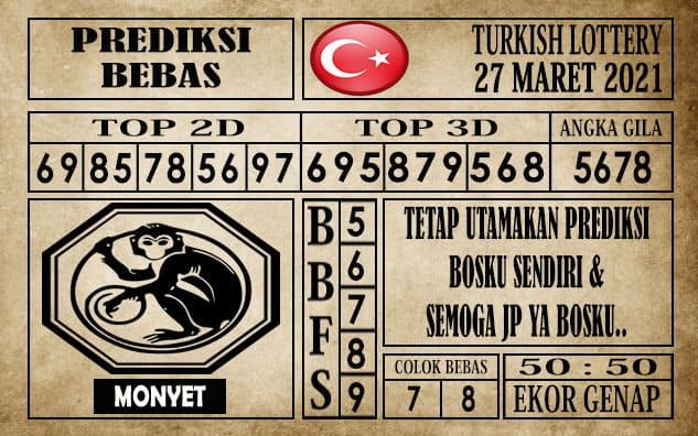 Prediksi Turkish Lottery Hari ini 27 Maret 2021