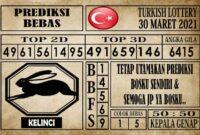 Prediksi Turkish Lottery Hari ini 30 Maret 2021