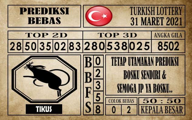 Prediksi Turkish Lottery Hari ini 31 Maret 2021