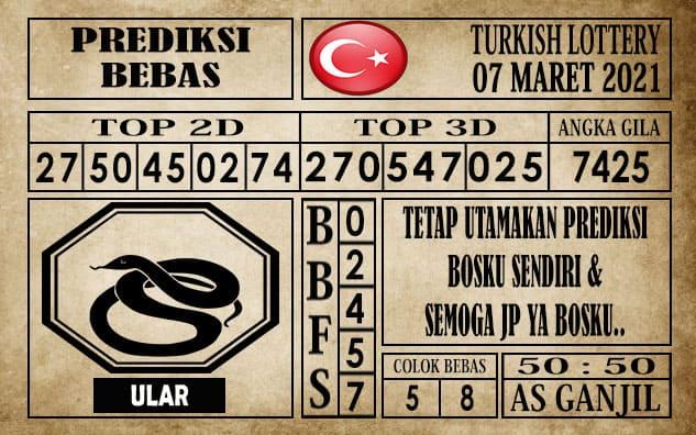 Prediksi Turkish Lottery Hari ini 07 Maret 2021
