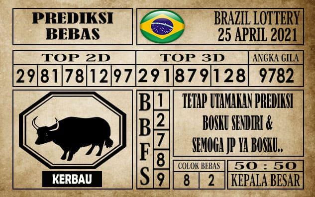 Prediksi Brazil Lottery Hari Ini 25 April 2021