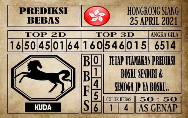 Prediksi Hongkong Siang Hari ini 26 April 2021